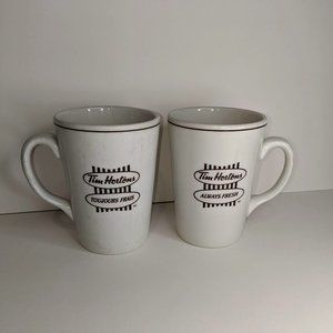 "2 Tim Hortons Ceramic Coffee Mug ""Always Fresh"""